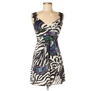 Body Central Animal Print Casual Dress